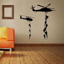 <b>Helicopter Army Soldier Wall</b> Stickers Vinyl Art Decals Teens Boys ...