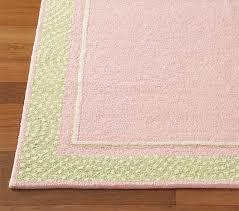 pink polka dot border rug swatch
