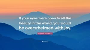 """Beauty Of The World Quotes Best of Marianne Williamson Quote """"If Your Eyes Were Open To All The Beauty"""