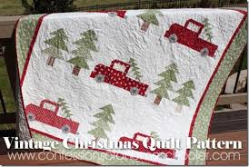 vintagechristmas17 | Scrappy Quilts | Pinterest | Christmas quilt ... & Vintage Christmas Quilt Pattern - Confessions of a Homeschooler Adamdwight.com