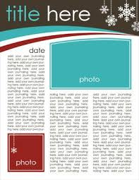 Free Download Newsletter Templates Christmas Newsletter Template Free Download The Gangs All Here