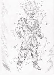 My Art Sangohan Dessin Imprimer Dragon Ball Z Super Sayen Saiyan