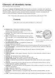 Glossary of chemistry terms wikipedia, the free encyclopedia