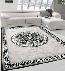 oriental rug grey silver glitter mat border design small large room area carpets