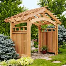 Small Picture Arching Garden Arbor Woodworking Plan Outdoor Backyard Structures