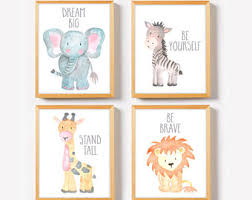 inspiring and cute nursery wall on safari prints art on baby safari nursery wall art with baby safari nursery wall art thenurseries