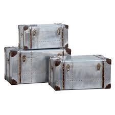 Set of 3 Aluminium Storage Trunks - London Trunk Company