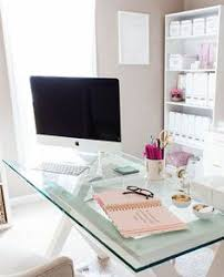 home office ideas pinterest. Beautiful Home Office Ideas - Glass Topped Desk Ideal For Small Space Pinterest