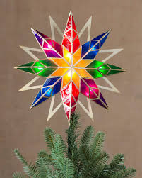... 11 Multicolor Double-Sided Starburst Tree Topper by Balsam Hill ...