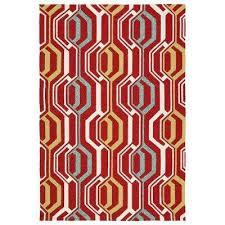 escape red 8 ft x 10 ft indoor outdoor area rug