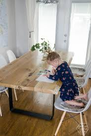 rustic dining table diy. diy live edge table with steel base rustic dining diy a