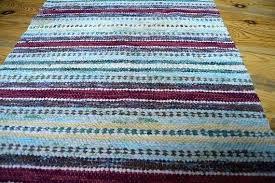 swedish rag rug vintage rag rug striped rug handmade carpet rug cottage floor runner with fringes