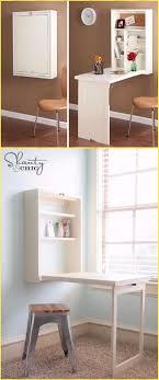 DIY Murphy Desk Tutorial - DIY Wall Mounted Desk Free Plans & Instructions