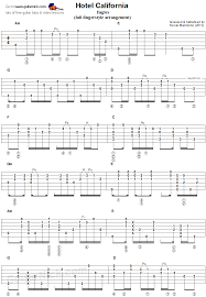 Hotel California Strumming Pattern Mesmerizing Hotel California Fingerstyle Guitar Tab 48 Guitar Pinterest