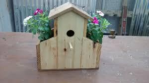 pallet wood bird house