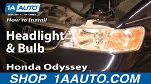 2003 Honda Odyssey Light Bulb Size How To Replace Headlight 99 04 Honda Odyssey