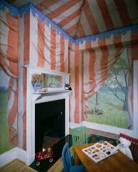Painting Childrens Bedroom Tent Trompe Loeil Room Painting Childrens Bedroom Idea