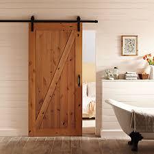 interior barn door hardware. Masonite 36-inch X 84-inch Z-Bar Knotty Alder Wood Interior Barn Door Slab With Sliding Hardware Kit | The Home Depot Canada R