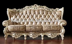 Vintage White Royal Living Room Furniture French Style Sofa Set