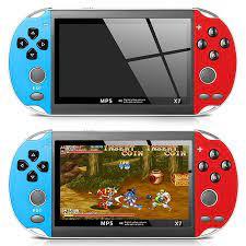 Máy chơi game cầm tay điện tử 4 nút mini X7 nghe nhạc xem phim ebook game  sup per HD screenmanf hình 30fps