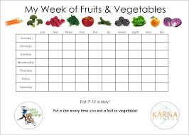 Fruit And Vegetable Challenge Chart Baby Boot Camp Is Exercise Enough Track Your Fruit And