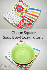 Bowl Cozy Pattern Magnificent Charm Square Soup Bowl Cozy Tutorial Great Scrap Bust Project