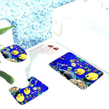 fish shaped bathroom rugs sets rug animated tank ocean tropical pattern bath mat anti slip shower