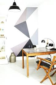 diy accent wall pattern ideas geometric wall stenciled accent walls home designs ideas
