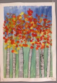 Kunst In Der Grundschule Zeitungsbäume Bildnerisches Gestalten