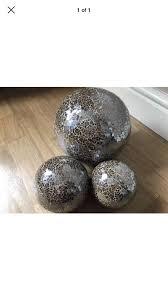 Decorative Balls Next 60 X NEXT MINK MOSAIC DECORATIVE BALLS IN EXCELLENT CONDITION 3