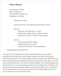 Police Reports Examples Sample Police Incident Report Form Rome Fontanacountryinn Com