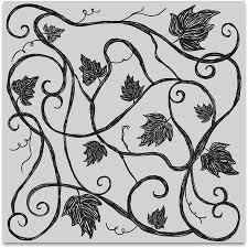Vine Pattern Stunning Hero Arts Vine Pattern Bold Prints Background Cling Stamp CG48