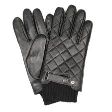Barbour Gloves | Black Quilted Leather MGL0027BK11 | Aphrodite1994 &  Adamdwight.com