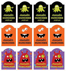 Monster Munchies Printable Labels For Halloween Treats Label