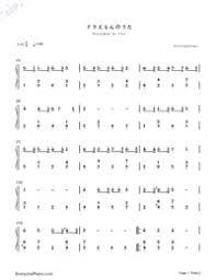 ドラえもんのうた ドラえもんop 簡単版無料の楽譜五線譜両手略譜を