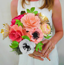 Paper Flower Bouquet Tutorial Flower Bouquet Making With Paper Magdalene Project Org