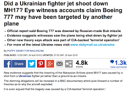 n airlines mh brought down by ukrainian military the geopolitical implications
