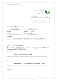 Fake A Doctors Note Luxury Urgent Care Doctors Note Template Simple Fake Doctor S