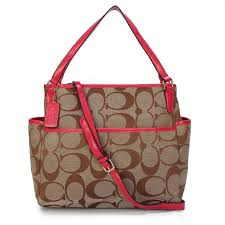 Coach Baby In Signature C Fabric Medium Camel Totes ANW