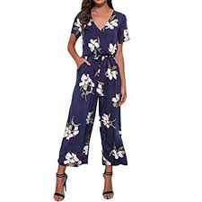 TAGGMY <b>Jumpsuits</b> for <b>Womens</b> for Holiday <b>Elegant V</b>-<b>Neck</b> Ladies ...