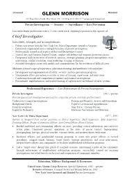 Crime Scene Investigator Resume Background Investigator Resume
