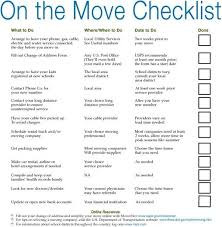 Printable Moving Business Checklist Template Moving Checklist