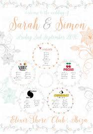 Sunshine Music Festival Seating Chart Ibiza Themed Wedding Stationery Wedfest Festival Themed