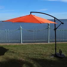 hfu 302 orange 10 ft cantilever umbrella