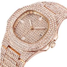 Wholesale Designer Watches Us 12 0 50 Off Wholesale Watches Mens Luxury Brand Diamond Calendar Quartz Wristwatches Men Gold Vintage Designer Watches Montre Homme Gold New In