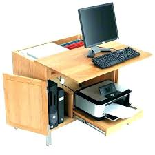 computer desk with printer stand top glass shelf