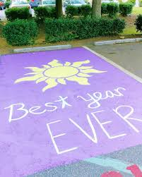 today i wanted to share with you how to paint a parking spot my high school let seniors paint their parking spot this year which i was super excited about