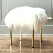 mongolian fur bench chair smooth ottoman desk lamb mongolian fur bench like this item gigi