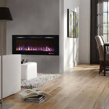 ay 50 inch crystal recessed touch screen multi color wall mounted electric fireplace