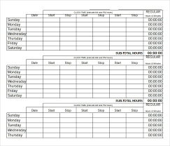 Excel Timesheet Download 22 Daily Timesheet Templates Free Sample Example Format